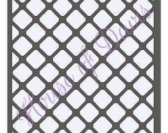 Diamond Lattice Stencil - 12x12