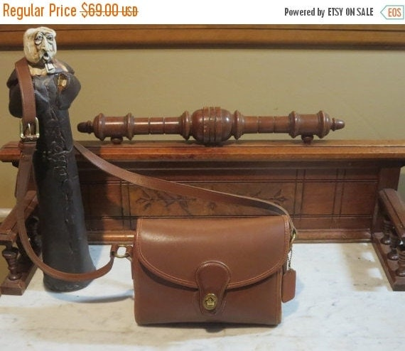 Football Days Sale Coach Devon Bag In British Tan Leather- Made In United States- VGC