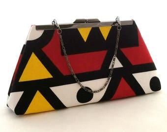 Colorful African Purse ~ Kente Clutch ~ Summer Wedding Handbag