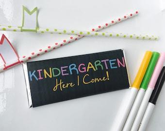 preschool Graduation party favors, pre-k graduation, Kindergarten Graduation Candy Wrappers, chalkboard, pre school, graduation candy, 24 ct