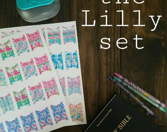 Printable Prayer Bible tabs. The Lilly Set. Bible journaling tab set