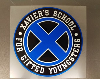 Xavier's School for Gifted Youngsters X-MEN Sticker, BLUE