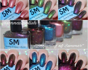 Dreaming of Summer Collection/ Crelly Nail Polish/ Duochrome Nail Polish/ Indie Nail Polish