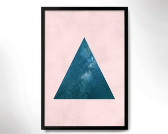 modern style poster, wall decor, sky poster, wall frame, sky night print, frame art