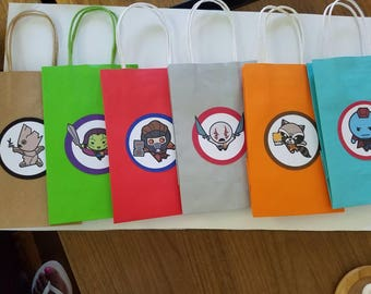 Guardians of the galaxy themed favor bags.