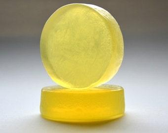 LEMON FLOWER SOAP - Handmade Soap - Homemade Soap - Natural Soap - Organic Soap - Vegetarian Soap - Cold Process Soap - Clear Soap