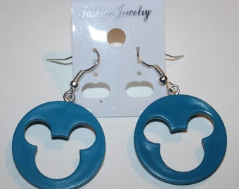 Mickey Mouse Disc Earrings (Various Colors)