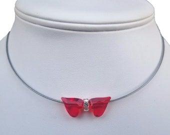 Necklace Monte Crystals streetstyle with Swarovski-Wedding Jewelry-Bridal Jewelry-free pouch-Swarovski Rondelles-beads-Swarovski components