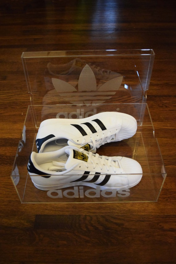Adidas Clear Acrylic Shoe Box by SuperMetals on Etsy free shipping ... c393a186ee63