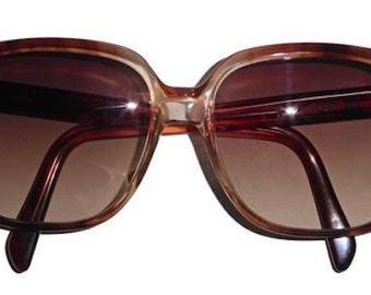 Vintage YSL 267/58 Sunglasses Brown Frame Brown Gradient Lenses