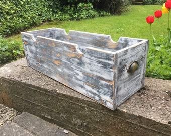 beautiful shabby chic storage box with handles.