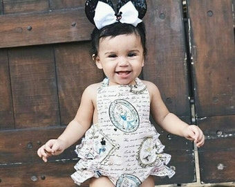 Disney Princesses baby romper. Bubble romper.