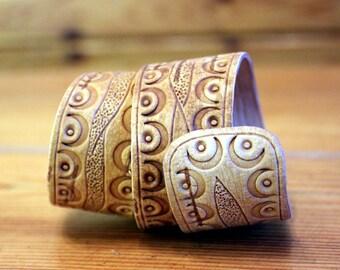 Double Wrap Birch Bark, Wooden Cuff Bracelet, Gift for her, Birch Wrap Bracelet, Women's Birch Bark Wrap Bracelet