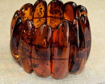 Amber bracelet / Baltic amber / Amber bracelet for adults / Baltic Amber Bracelet / Amber multicolor  bracelet / Massive amber bracelet