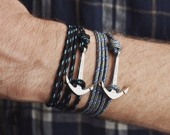 Wrap Personalised Anchor Bracelet - Anchor bracelet - Men's bracelet - Gift for him - Men's gift - Gift for him- Custom bracelet [MBR001]