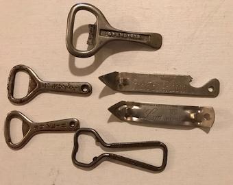 Vintage Bottle Openers Church Keys - Lot of 6