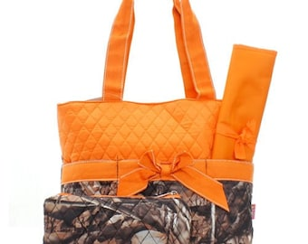 PERSONALIZED Camo 3 piece diaper bag new