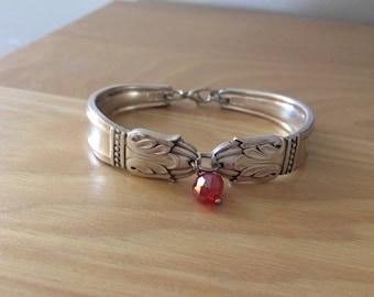 Silver plated spoon bracelet Danish Princess