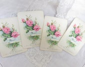 CUSTOM for Kim - 4 Sets of French Merci and Fleurs Note Cards