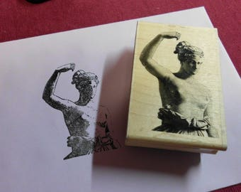 """Rubber Stamp Wood Mounted Ancient Statue Woman Paper Inspirations 3.5"""" x 2.25"""""""
