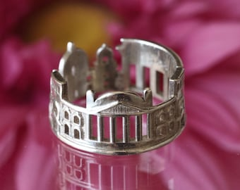Berlin Cityscape - Skyline Statement Ring - Gift for Him - Anniversary Gift - Graduation Gift - Mother's Day