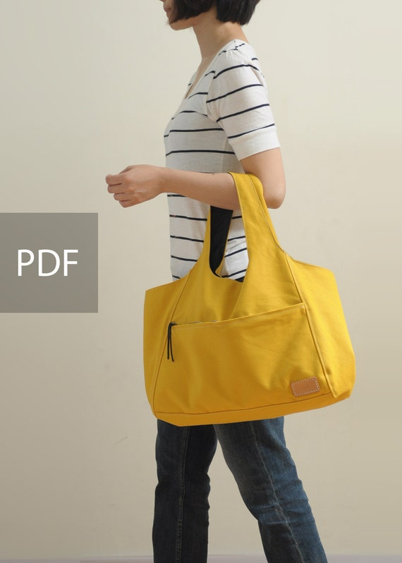 Sunny Day Canvas Bag - Bag PDF - Sewing Pattern - with Sewing Tutorials - Sewing Pattern  by niizo (no supplies)