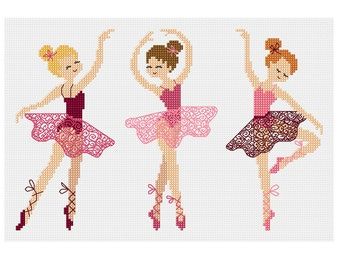 Ballet Girls - Durene J Cross Stitch Pattern - DJXS2205