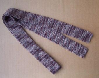 knit skinny melange milk coffee color necktie unique cool gift for cool season christmas gift groomsmen tie winter wedding