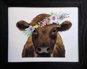 Limited Edition Cow Gliclee Print