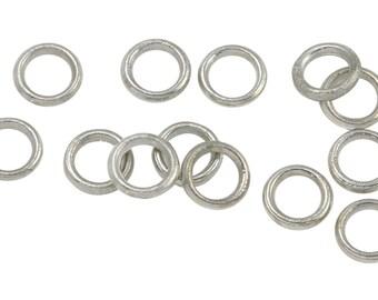50 Pcs 5 mm Base Metal Oxidized Silver Tone Closed Jump Rings (BMSOXJCH05)
