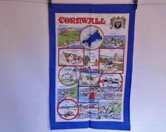 Vintage Vista Cotton tea towel Cornwall