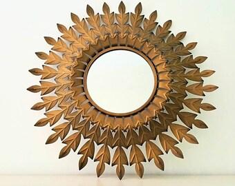 espejo sol triple espiga triple spike golden sunburst mirror