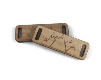 Mountains/Laser Engraved/Wood Button/Handmade Button/Unique Button