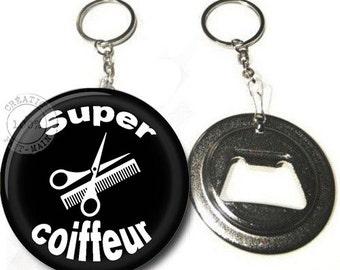 Keychain bottle opener great hairdresser