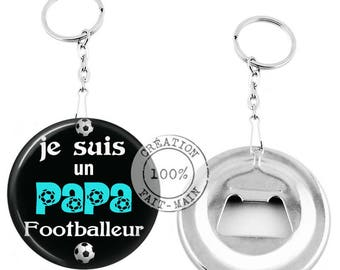 Keychain bottle opener /i am Football Dad