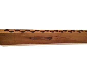 Essential Oil 15ml Bottle Holder with 18 Holes, Natural Finish   SKU: 248