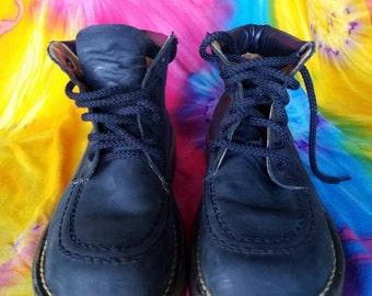 Dr. Martens  Made in England Vintage Black Nubuck Hiking Boots Size 5UK - 7US