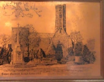 Copper Craft Copper Etching by Pleasure Reproductions Tower Gardens