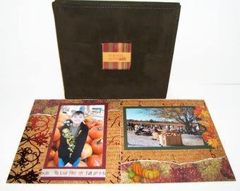 Fall Scrapbook Album - Autumn Scrapbook Album - Pumpkin Patch Photo Album - Fall Photo Album - Autumn Photo Album - Farm Scrapbook Album