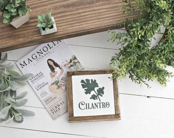 Cilantro Herbs wood sign~ Farmhouse sign