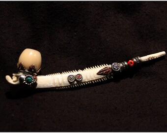 Tribal Amazonian Pipe - Shamanic - Mystic - Original - Boho - Gypsy - Trance - Smoke -