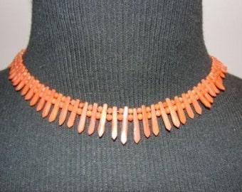 Victorian Mediterranean Coral Pickets & Berries Necklace/Bracelet Set
