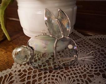Stained Glass Rabbit Suncatchers