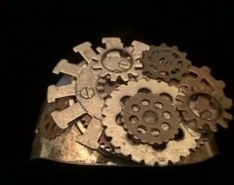 Steampunk Gear Cuff