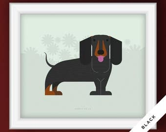 Dachshund Dog Portrait (Illustrative Poster)