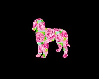 Preppy Labradoodle Vinyl Decal in your choice of great patterns and sizes!  Great gift for Mom or any dog lover on your list!