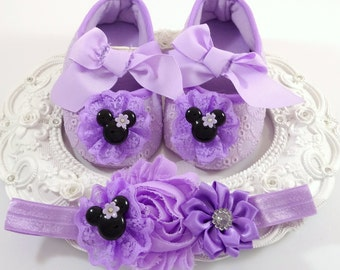 Baby Girl Shoes and Headband Set, Newborn Baby Girl Shoes, Baby Accessories, Shower Gift, Gift for Baby