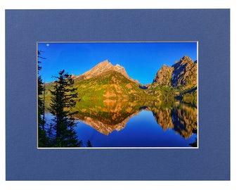 Grand Teton National Park Jenny Lake Reflections Matted Fine Art Giclee Print, Modern Wall Art Featuring Fine Art Nature Photography