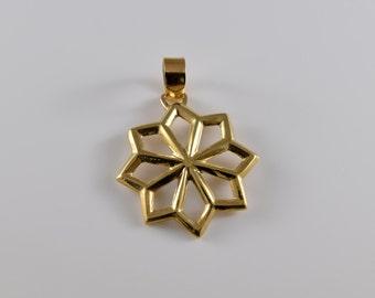 14K Yellow Gold 8 Point Star Pendant