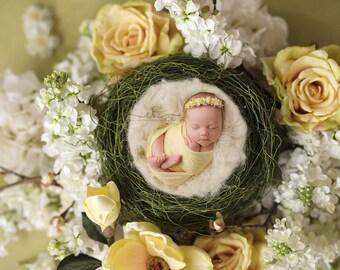 Yellow Jersey Stretch Wrap READY TO SHIP; newborn photography prop; newborn wrap; newborn girl; yellow wrap